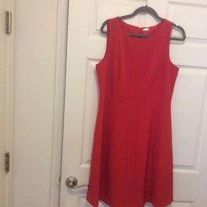 Lovely red dress.